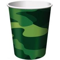 """Popieriniai puodeliai """"Karinė maskuotė"""" (8 vnt./266 ml)"""