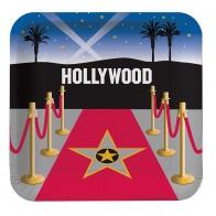 """Popierinės lėkštutės """"Holivudas"""" (8 vnt./23 cm)"""