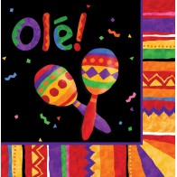 """Vienkartinės popierinės servetėlės """"Fiesta Meksikoje"""" (16 vnt.)"""