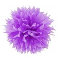 """Popierinė dekoracija-burbulas """"Pom Poms"""", violetinis smailias galais30 cm"""