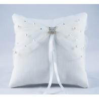 Šampano spalvos vestuvinė pagalvėlė žiedams