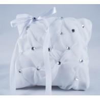 Balta vestuvinė pagalvėlė žiedams