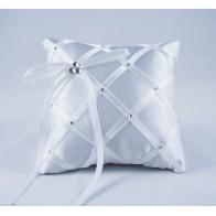 Balto satino pagalvėlė žiedams