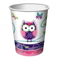 """Popieriniai puodeliai """"Draugė pelėda"""" (8 vnt./266 ml)"""